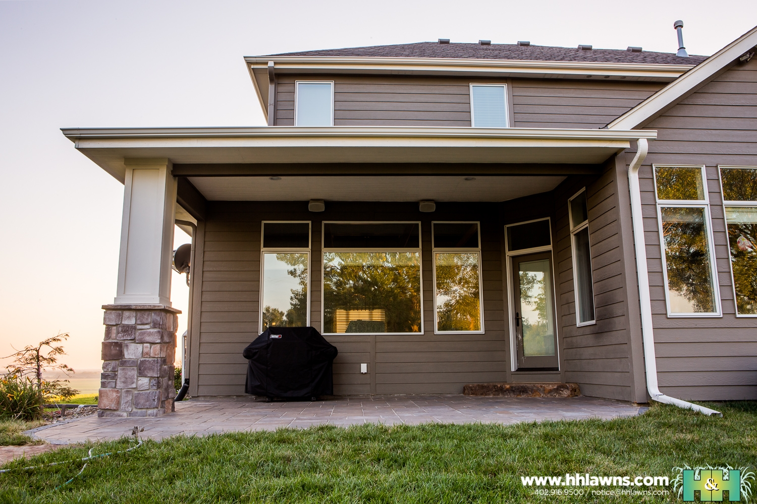Jason and Ashley Kassmeier Outdoor Patio Landscape Project 2016 (H&H Lawn and Landscape)