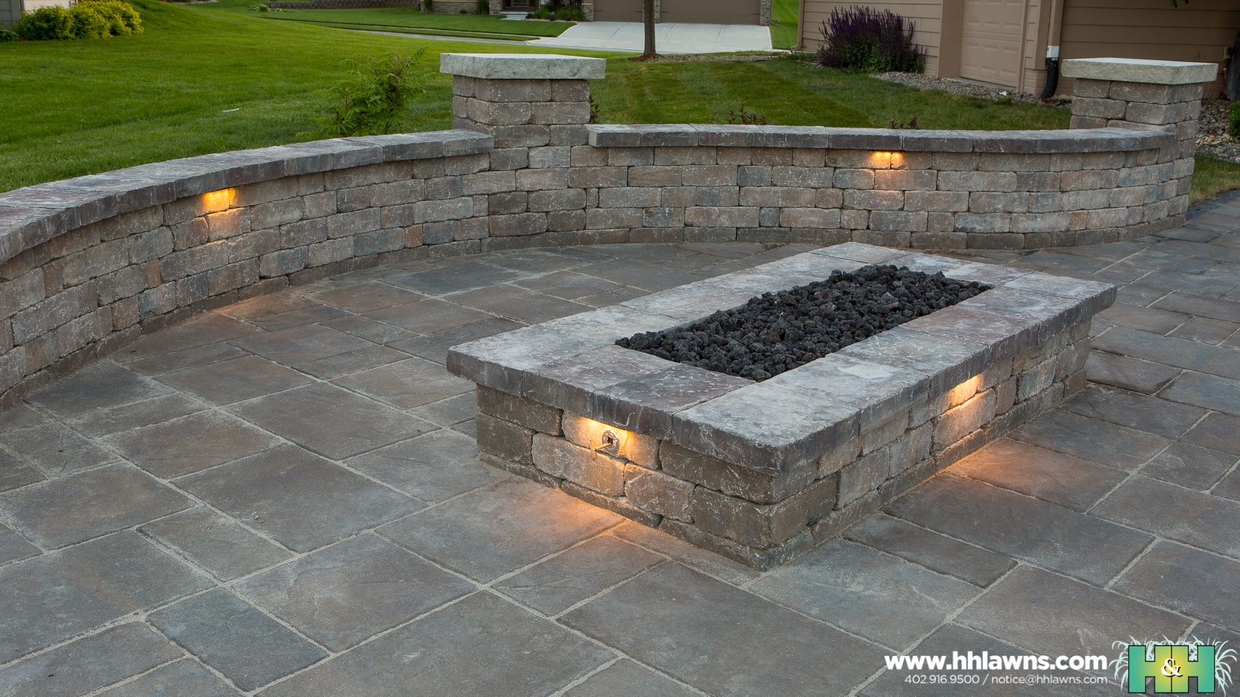 Dan Martin Outdoor Patio Landscape Project 2016 (H&H Lawn and Landscape)
