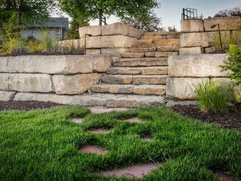 retaining walls h h lawn and landscape omaha ne